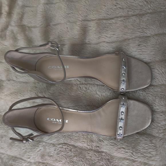 Coach Shoes - Coach star ankle strap sandals